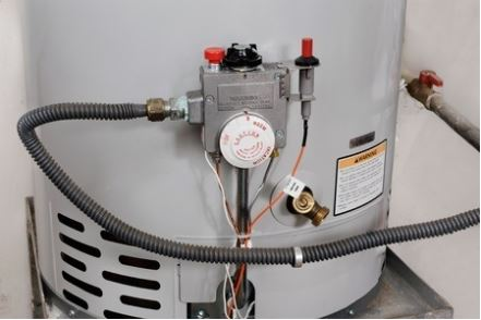 front of water heater